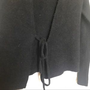 Aritzia Sweaters - ARITZIA WILFRED FREE Black Tie Front Cardigan Sz S